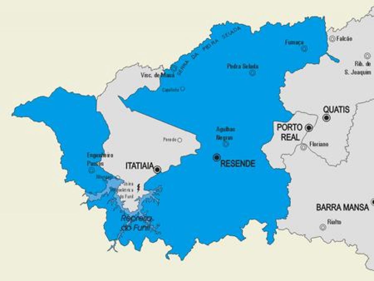 resende mapa Resende občini map   Zemljevid Resende občini (Braziliji) resende mapa